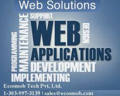 Ecosmob offers simple to complex website and web application development services as complete Web Solution to enhance the web experience.