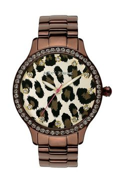 Betsey Johnson Leopard Print Dial Watch -- Welcome to My website:http://www.aliexpress.com/store/919173