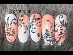 Hướng dẫn vẽ cọ râu bằng gel siêu đẹp cùng ANNP Nail🥰🥰🥰🥰 - YouTube Nail Art Arabesque, Monogram Nails, Swirl Nail Art, Girl Trends, Dope Nails, Nail Swag, Press On Nails, French Nails, Swirls