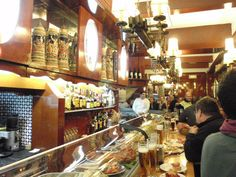 El vaso de oro (La Barceloneta -Barcelona). They brew their own beer, the bartenders wear captain's shirts and the bar is ludicrously narrow. What more do I need to say?
