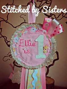 1st birthday personalised Handmade hanging by StitchedbySistersuk