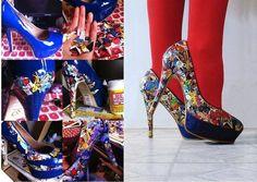 #diy,  comic book heels