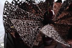 chocolate filigree cake - Google Search