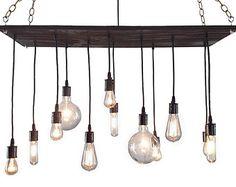 Urban Chandelier: Rustic Chandelier, Industrial Chandelier, Modern Lighting, Light Fixture, Reclaimed Wood Chandelier. on ETSY.com