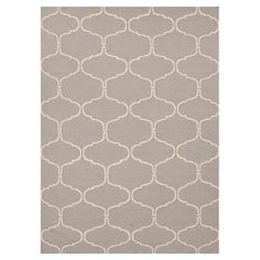 Bring a pop of pattern to your living room or master suite with this flatweave wool rug, showcasing an eye-catching quatrefoil ogee motif. ...