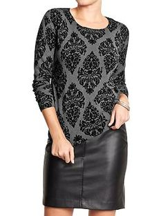 Women's Patterned Crew-Neck Sweaters | Old Navy
