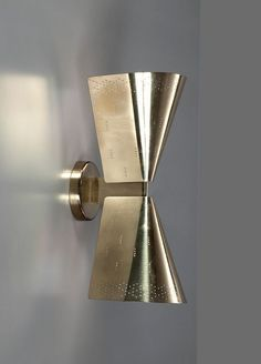 Paavo Tynell; Brass Wall Light for Idman Oy, 1950s.