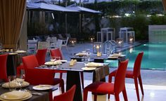 Restaurant of #SamariaHotel... DIning by the pool! #Chania