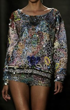 """c-h-a-n-e-l-paradise: """"fashioninquality: """" Detail at Fred Sathal Couture Fall Winter 2014 