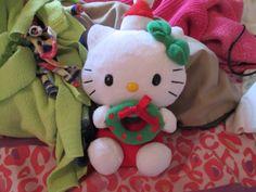 Hello Kitty with Christmas Wreath