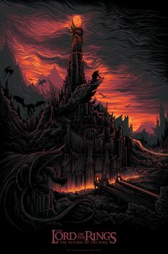 cinemagorgeous: Gorgeous poster tribute to The Lord of the Rings: The Return of the King. By artist Dan Mumford.