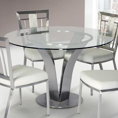 Looking for Armen Living Cleo Dining Table Clear Glass Brushed Stainless Steel Finish ? Check out our picks for the Armen Living Cleo Dining Table Clear Glass Brushed Stainless Steel Finish from the popular stores - all in one.