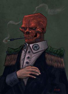 CARLOS VILLAGRA Red Skull