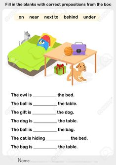 preposition worksheets in on under English Activities For Kids, English Worksheets For Kindergarten, Learning English For Kids, English Grammar Worksheets, English Lessons For Kids, First Grade Worksheets, Kindergarten Worksheets, Grammar For Kids, Teaching English Grammar
