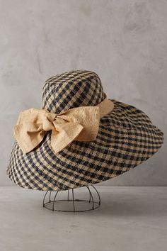 Raffia Gingham Sun Hat - #anthrofave