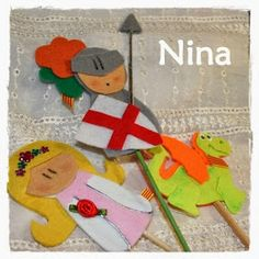 Nina: Sant Jordi 2014 Preschool Crafts, Crafts For Kids, Diy Crafts, Medieval Crafts, Saint George, Art Plastique, Fun Projects, Puppets, Christmas Ornaments