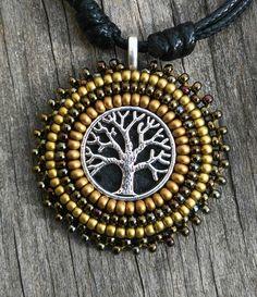 Necklace tree of life in brown tones de MysticDreamsFactory en Etsy