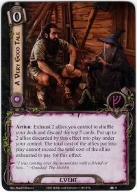 Beorn and Galdalf (A Very Good Tale card lotr lcg)