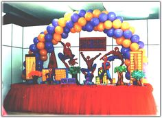 Spiderman Party Table