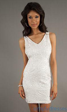 Bachelorette dress? Short Sleeveless Print Dress at SimplyDresses.com