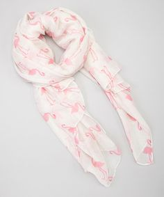 This Pink Flamingos Scarf by Bubbly Bows is perfect! #zulilyfinds