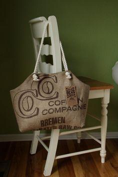 Recycled Burlap Coffee Sack Market Tote, C Print Diy Burlap Bags, Burlap Purse, Burlap Sacks, Hessian, Diy Tote Bag, Reusable Tote Bags, Coffee Bean Sacks, Custom Purses, Boho Bags