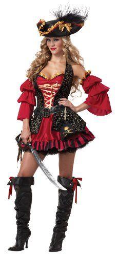 California Costumes Women's Eye Candy - Spanish Pirate Adult   Halloween Galaxy