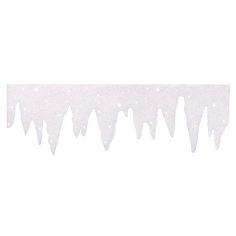 Frise de pics de glace à paillettes