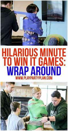 10 of the funniest minute to win it games ever! These are perfect for kids, for teens, for adults, or even at family reunion. These would be so funny to play with my work team or at my son's next birthday party! I can't wait to try #7!