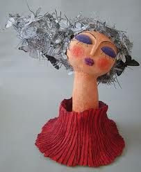 I want to try a paper mâché head like this..