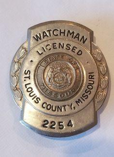 Licensed Watchman, St.Louis County, Missouri