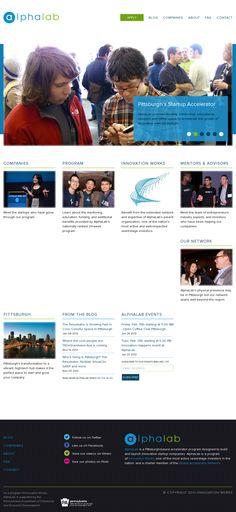 alpha lab website design -  'http://alphalab.org/'
