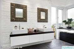 spabadrum dubbelhandfat Bathroom Toilets, Bathrooms, Dream Rooms, Double Vanity, Interior Design, Home, Spa, Nest Design, Bathroom