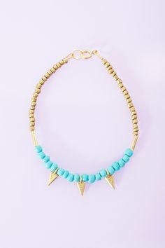 Turquoise Spike Bracelet