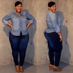 Plus Size Fashion - Denim on Denim