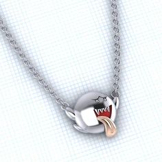 Super Mario Bros BOO necklace