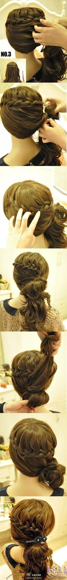 Possible wedding hair Hair: How To Pretty Hairstyles, Girl Hairstyles, Braided Hairstyles, Wedding Hairstyles, Classy Hairstyles, Updo Hairstyle, Braided Updo, Love Hair, Great Hair
