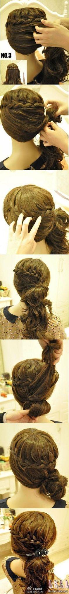 braid tutorial long brown hair