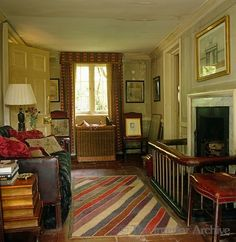 room in Nicky Haslam hunting lodge in England, formerly owned by John Fowler