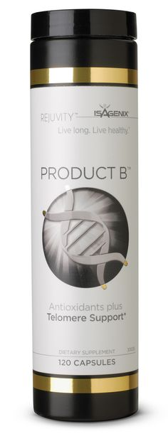 """I love knowing I'm getting the Best telomere support, making my cells """"Functionally Younger""""...gaining  15 minutes for EVERY hour I age.  PRODUCT B is all about youthful aging -check it out. (Won Noble Prize for research) Www.telomere-solutions.com"""
