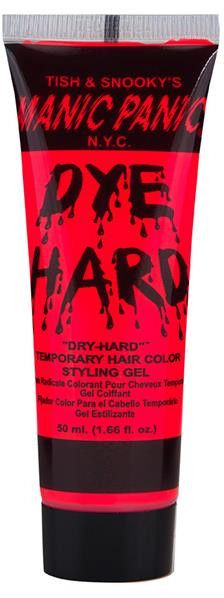 Manic Panic Dyehard Styling Gel is the perfect way to add a little color to your look without the commitment! The color washes out with the gel.