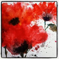 Watercolour poppies - want to paint this for Anzac day Remembrance Day Activities, Remembrance Day Art, Veterans Day Poppy, 3rd Grade Art, Grade 2, Poppy Craft, Watercolor Poppies, Watercolor Paintings, Atelier D Art
