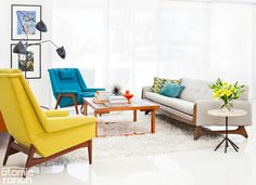 Here's how to give your coffee table a midcentury touch.