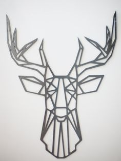 Steel Geometric Deer Wall Art by FactoryCustomFab on Etsy