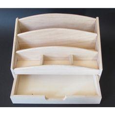 Wooden Desk Tidy, Storage, Letter Rack