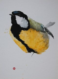 Karl Martens - Great Tit - watercolor