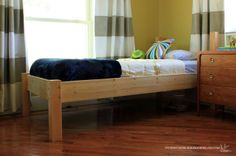 Diy twin bed with complete instructions