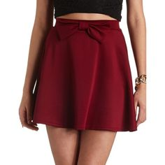 Bow-Front High-Waisted Skater Skirt and other apparel, accessories and trends. Browse and shop 8 related looks.
