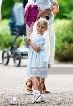 Princess Estelle of Sweden, at Crown Princess Victoria of Sweden's 39th Birthday celebrations at Solliden Palace on July 14, 2016 in Oland, Sweden.