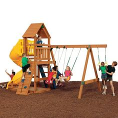 PlayStar All Star Gold Expandable Residential Wood Playset Lowes Home Improvements, All Star, Deck, Backyard, Flooring, Play, Building, Gold, Canada